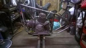 Ducati hardtail frame